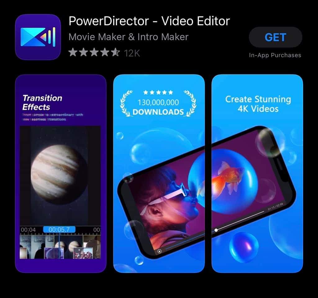 best apps for YouTubers android, Power Director