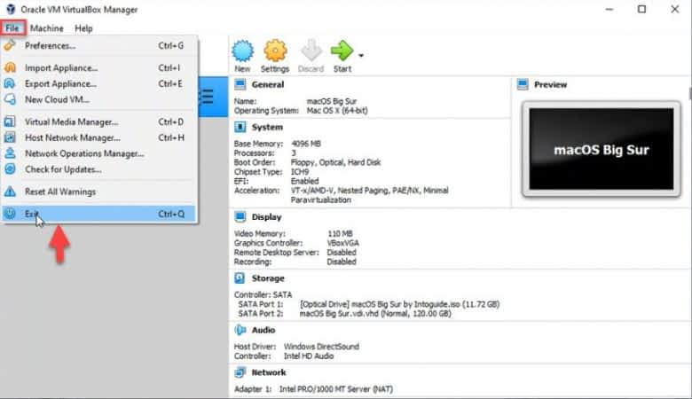Install macOS Big Sur on VirtualBox in Windows 10