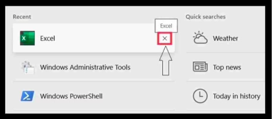clear and turn off Taskbar search box history in Windows 10.