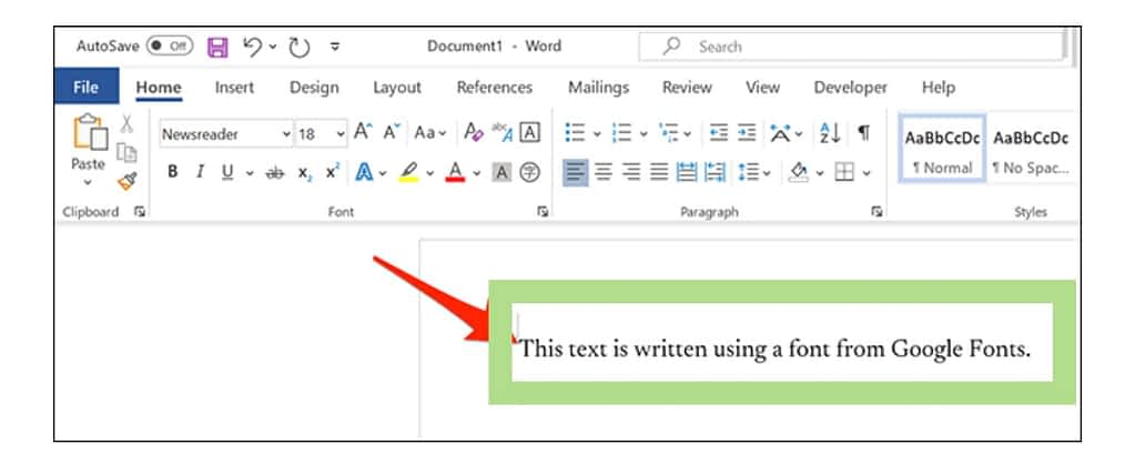 Use google Fonts in microsoft word, new fonts in microsoft word
