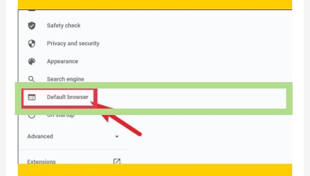 Set Chrome as default browser in Windows 11, default brouser