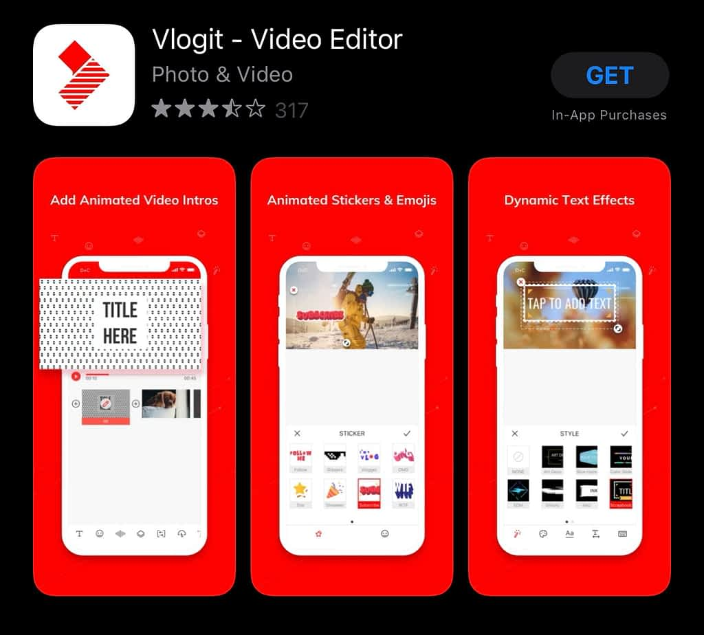 best apps for YouTubers android, Vlogit