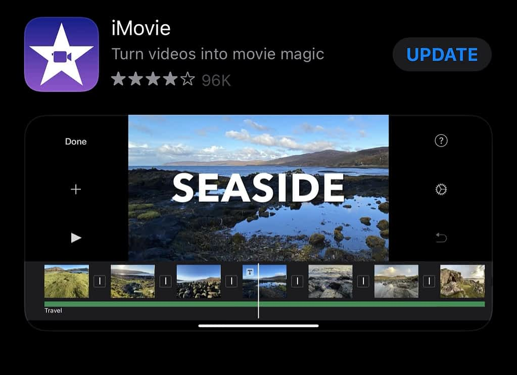 best apps for YouTubers android, iMovie