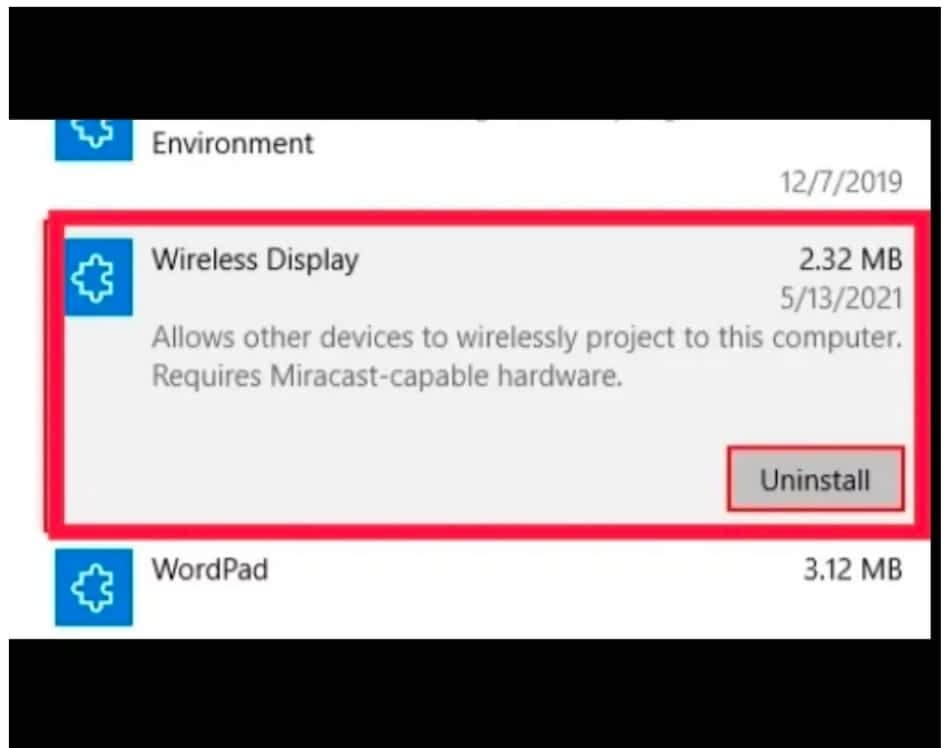IMG 20210604 080004 Add and Delete Wireless Display on Windows 10 PC,uninstall the Wireless Display feature in Windows 10,Add and delete Wireless Display on Windows 10 using Command Prompt