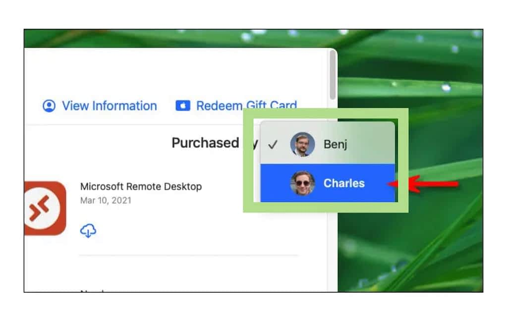 Access Family purchases On The Mac App Store, charles purchases