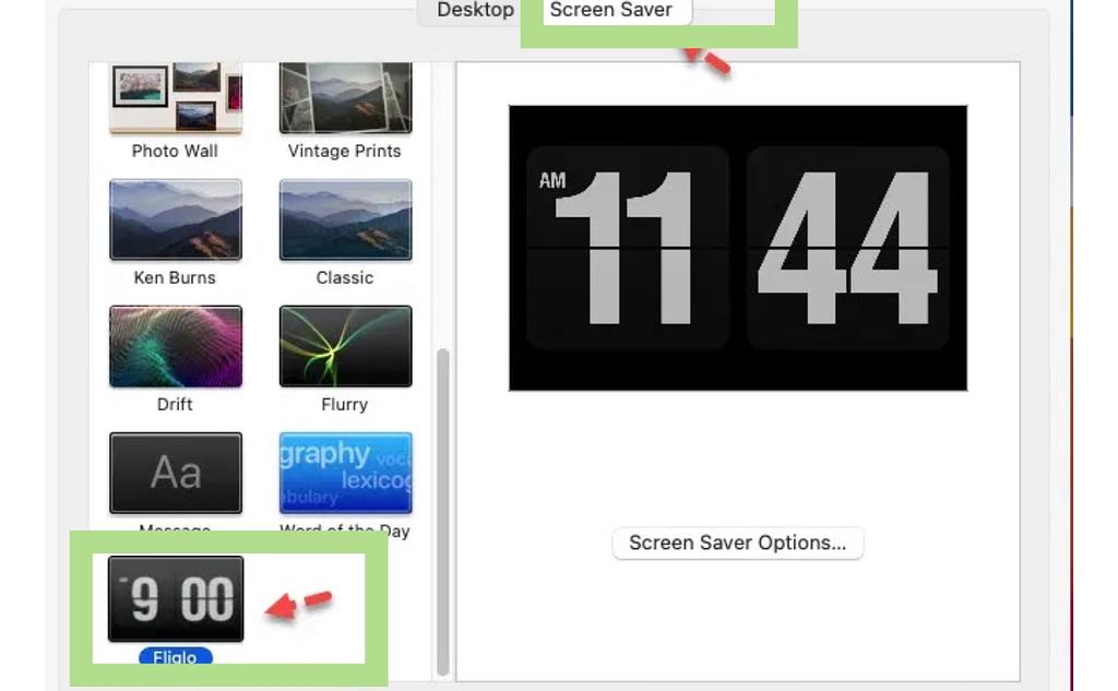 fliqo screensaver for mac