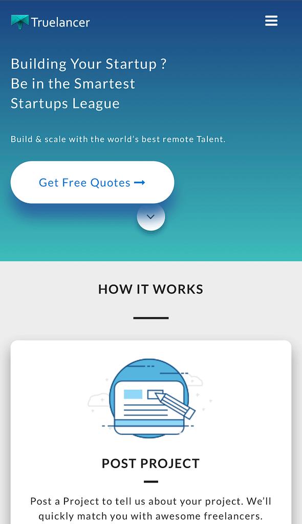Best freelancing websites to work, Truelancer.com