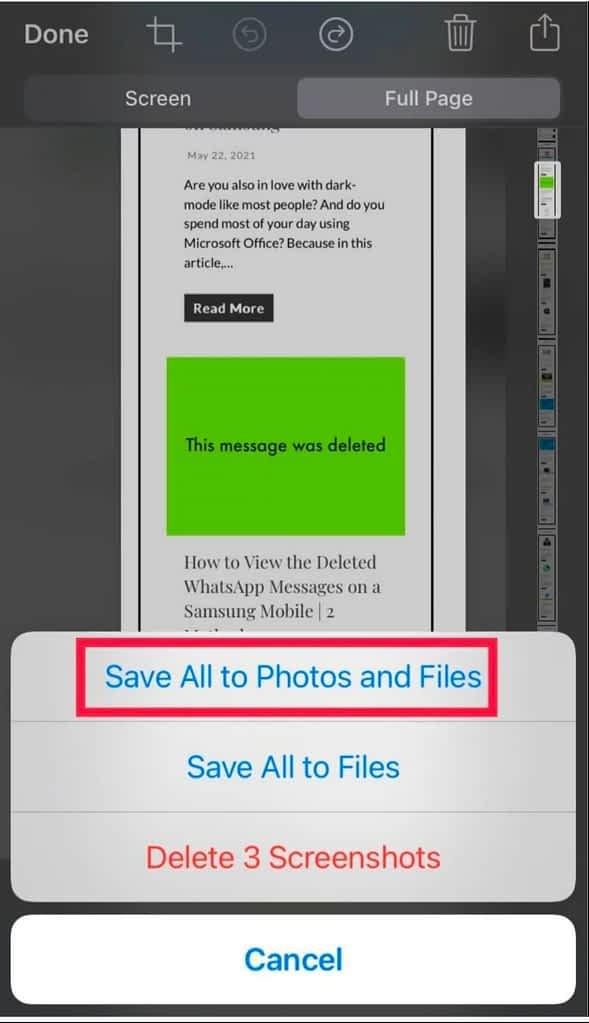 IMG 20210524 171821 Capture Scrolling Screenshots on the iOS 14 iPhone