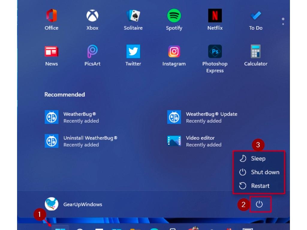 How to Shut down or Restart Windows 11 PC?