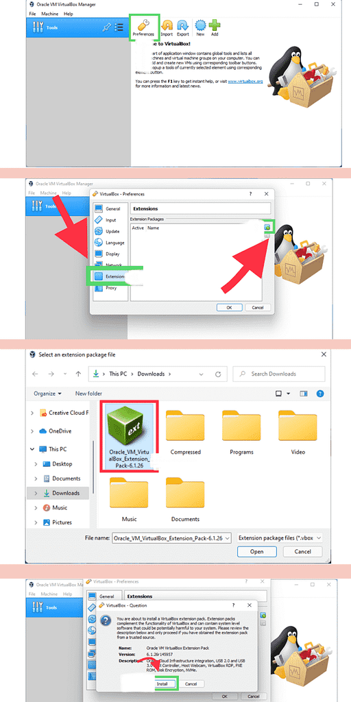 Install VirtualBox Extension Pack On Windows 11 PC