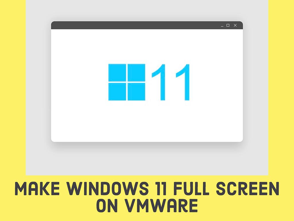 Make Windows 11 Full Screen on VMware