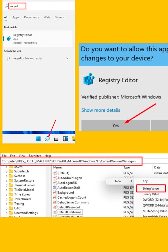 Permanently Remove Login password in Windows 11