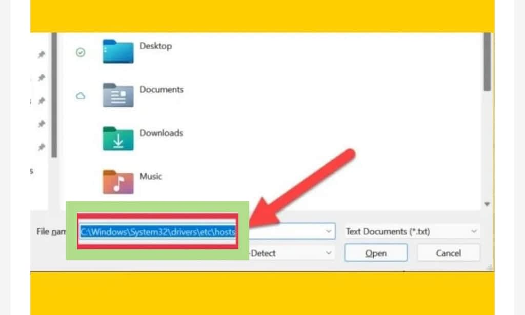 Modify your hosts file on windows 11, save file