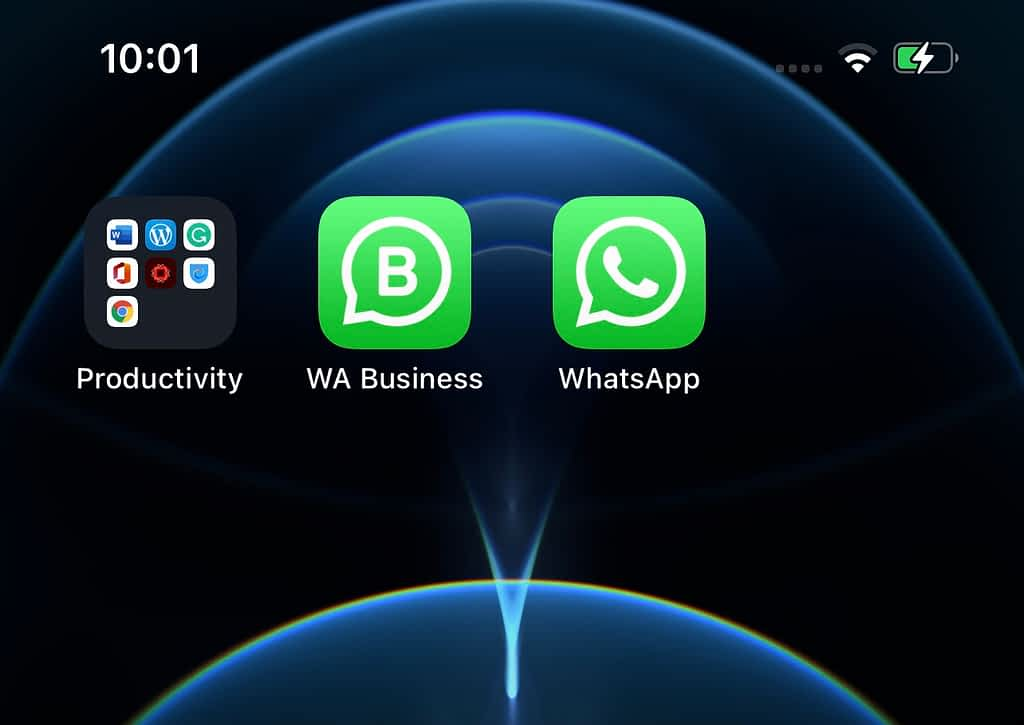 Two WhatsApp on Android mobiles