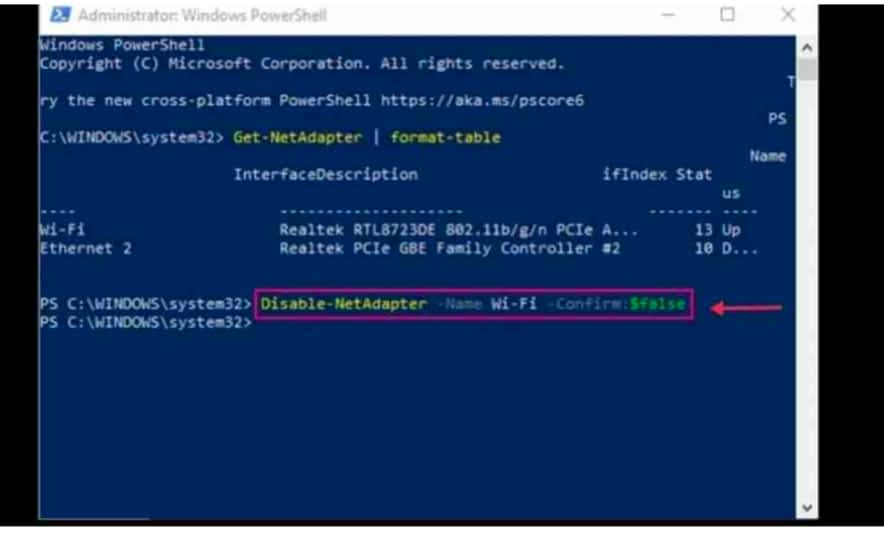 IMG 20210604 082617 Disable WiFi in Windows 10 Using CMD or Powershell,disable WiFi in Windows 10 with Command Prompt or Powershell