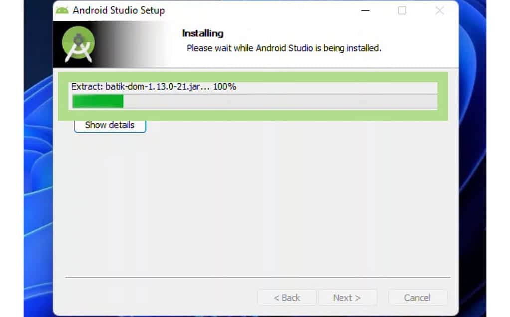 img 5584 Install android 12 on PC,run android on pc,Create an Android 12 Virtual Device Via AVD,Configure Android Studio Setup Wizard,Android 12 Features