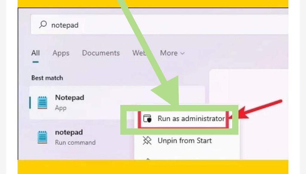 Modify your hosts file on windows 11, run as adminstrator
