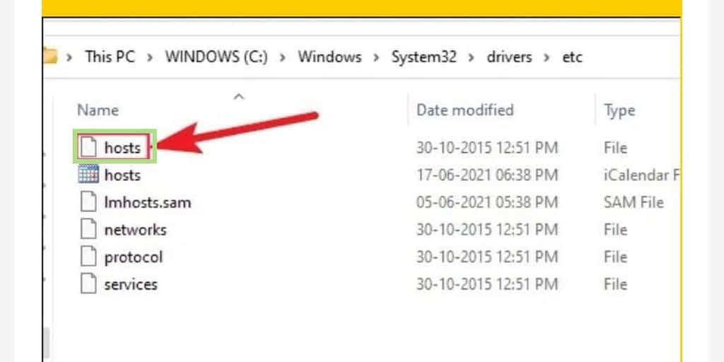 Modify your hosts file on windows 11, host file