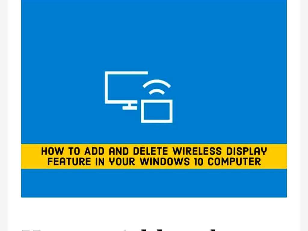 IMG 20210604 080033 Add and Delete Wireless Display on Windows 10 PC,uninstall the Wireless Display feature in Windows 10,Add and delete Wireless Display on Windows 10 using Command Prompt