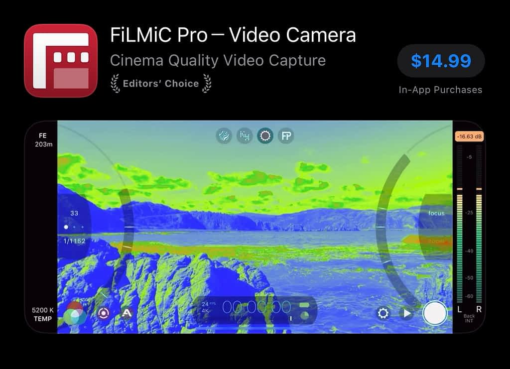 best apps for YouTubers android, FiLMiC Pro Camera