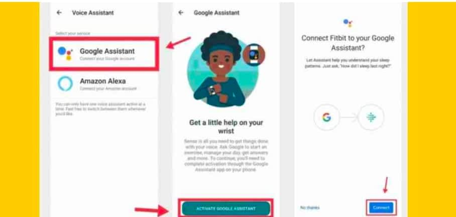 set up and use Google Assistant on Fitbit