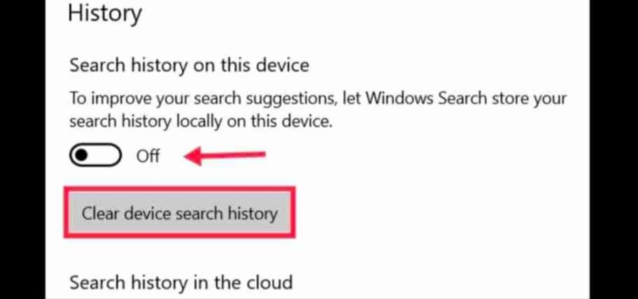 IMG 20210531 011926 1 clear and turn off Taskbar search box history in Windows 10