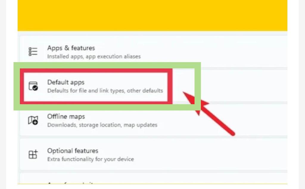 Set Chrome as default browser in Windows 11, default apps