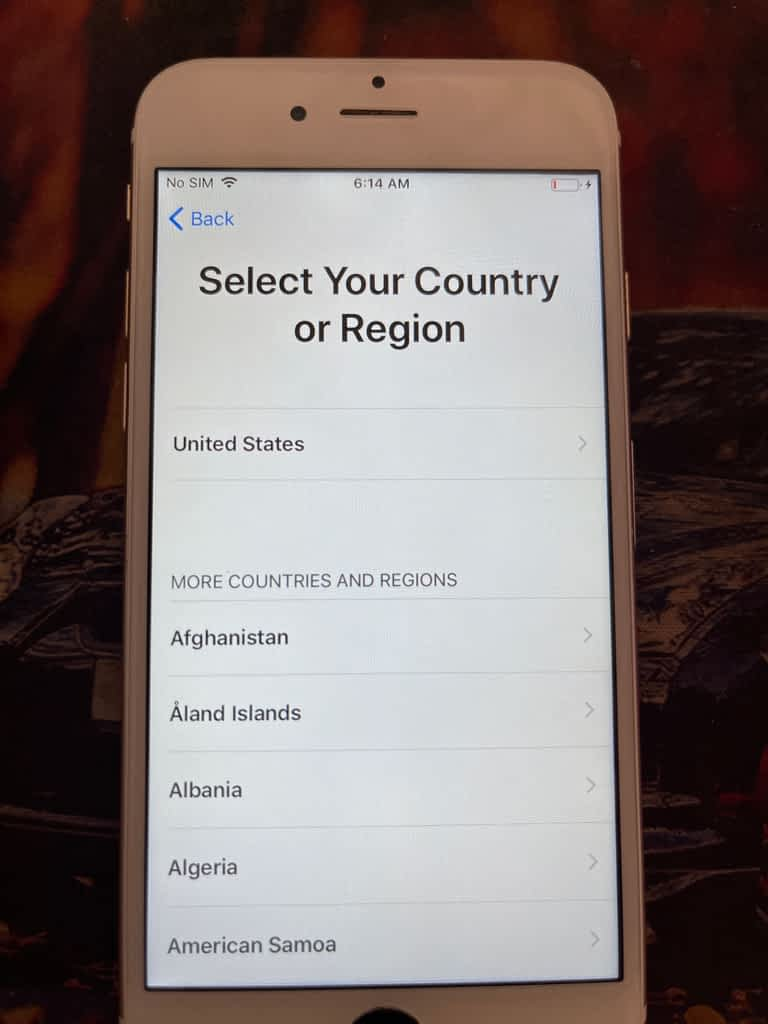 transfer data from android to IOS,  select region