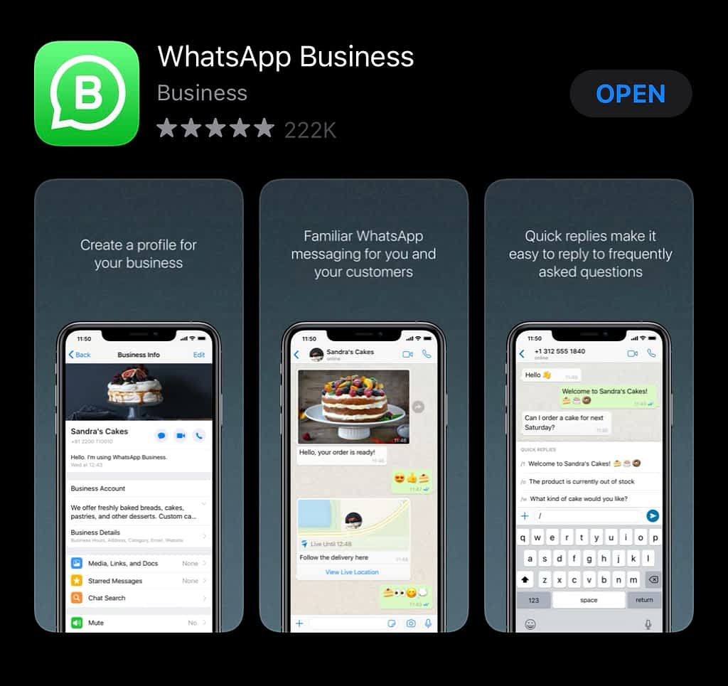 WhatsApp Business On Play store