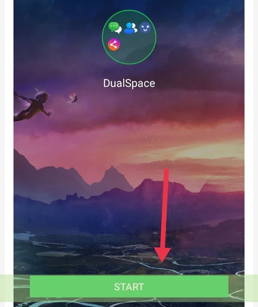 Dual Space Start button
