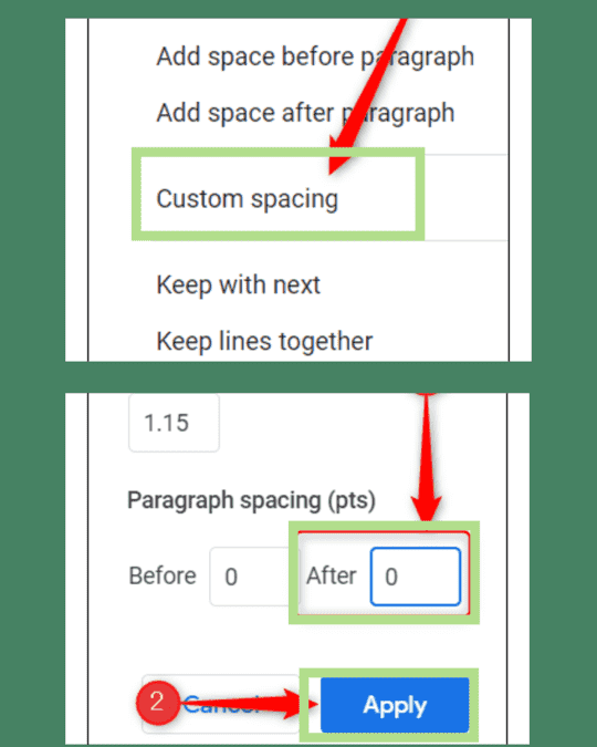 Follow the steps to delete a page in google docs.
