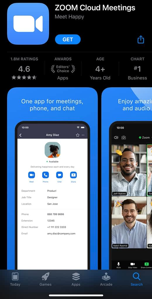 Zoom Video Communications Conferencing, Zoom App