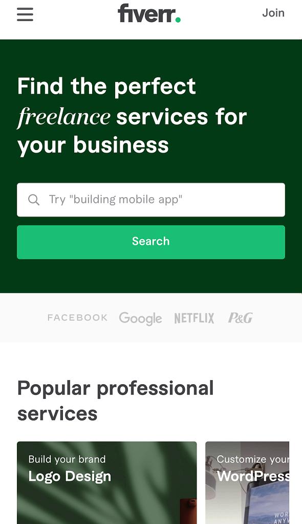 Best freelancing websites to work, Fiver.com