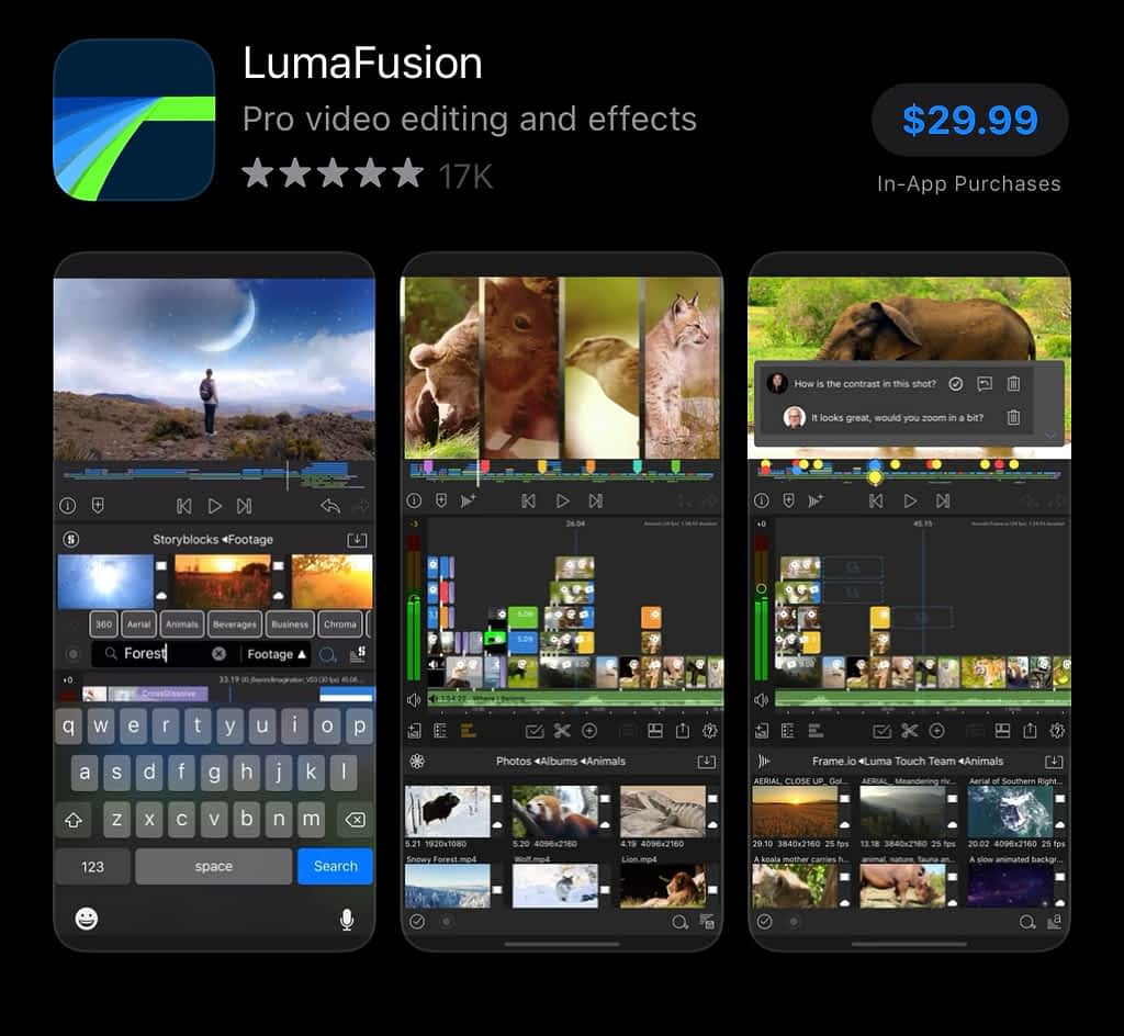 best apps for YouTubers android, LumaFusion