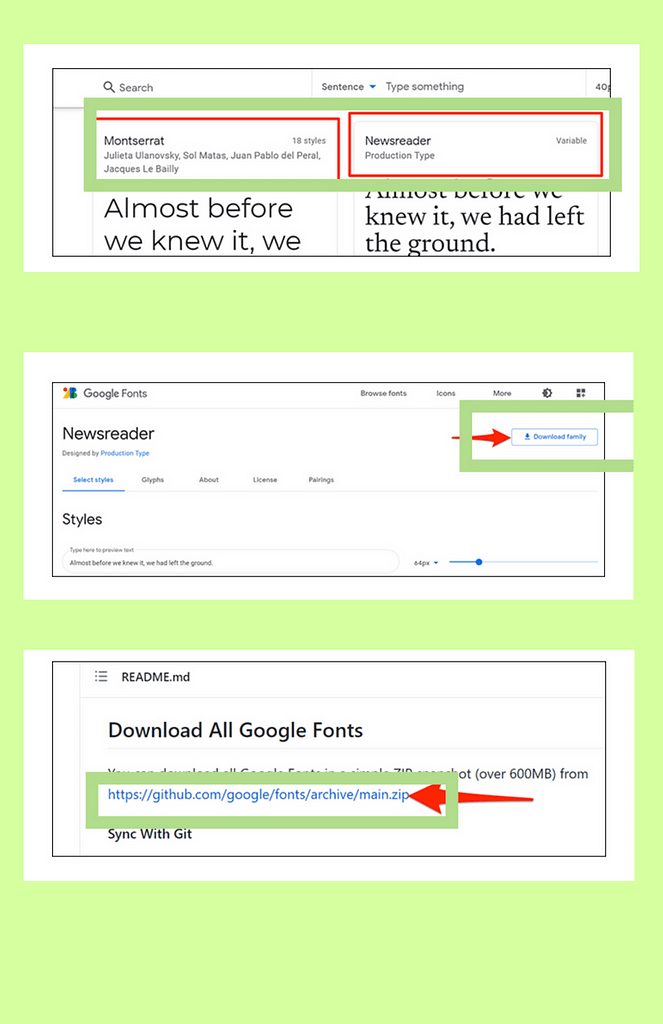 Use google Fonts in microsoft word, download fonts