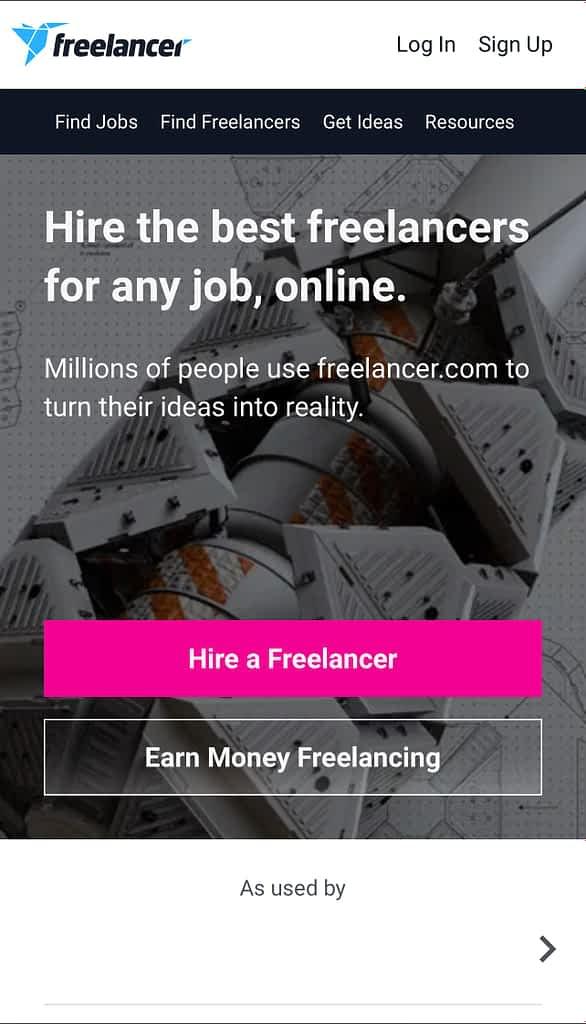 Best freelancing websites to work, Freelancer.com
